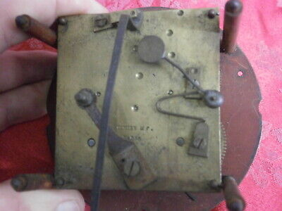 Clock DIMIER PARIS MOVEMENT & Dial inc French strike for a bell parts spares