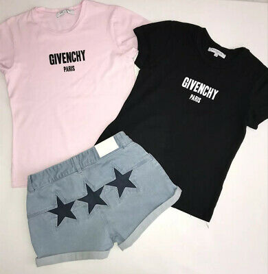 Givenchy Girls Outfit 2 T Shirts And 1 Pair Of Star Shorts Vgc Age 12 Yrs