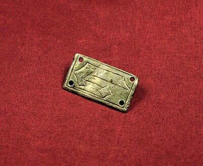 Medieval Teuton Knight's Silver Mantle Buckle, 13. Century