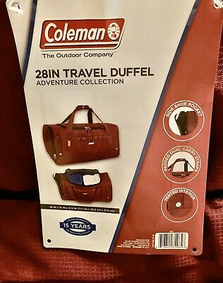 Coleman 28IN Travel Duffel Adventure Collection New 👍