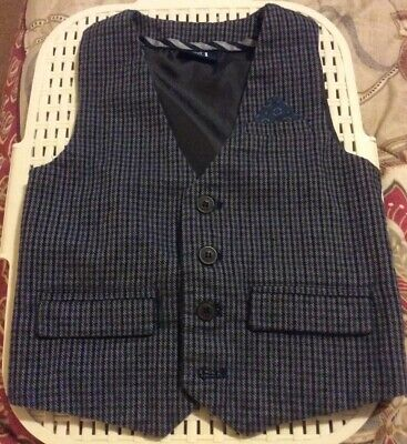 Boys Next Tweed Waistcoat.  Age 2 - 3 Years. Excellent Condition