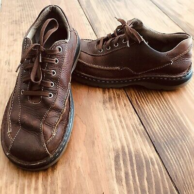 Dr Martens Mens Size 9 Brown Leather Lace Up Oxford Shoes 11200 AW004 EUC