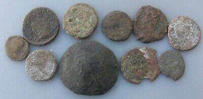 10 Very Low Grade Junk Ancient Uncleaned Coins qqpwqo