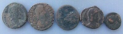 5 Low Grade Junk Ancient Uncleaned Coins qqpwqo