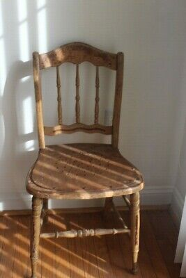 19th century 1859  Yellow Painted Chair