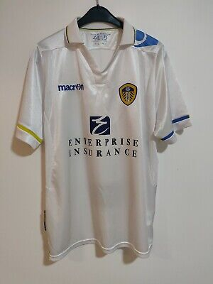 Leeds United Football Shirt Home Macron 2011-2012 Classic Medium M