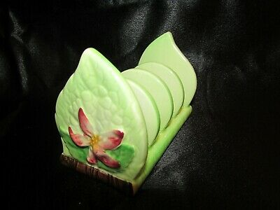 Carlton Ware embossed ware -Apple Blossom 4 slice toast rack