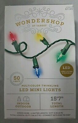 Wondershop at Target 50 ct LED Mini String Lights Twinkling Multicolored Red