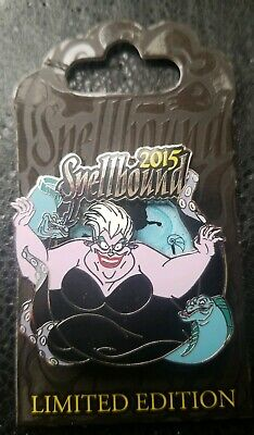 Disney Parks 2015 Halloween The Little Mermaid URSULA Spellbound LE  Spinner Pin