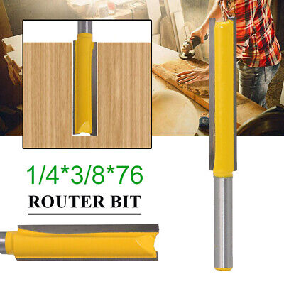 2 inch With Two Flute 1//4 Shank Extra Long 50mm Straight Router Bit In Case.