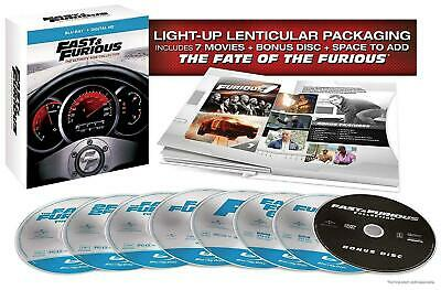 Fast and Furious: The Ultimate Ride Collection (DVD, 2017, 8-Disc Set) 828 MIN
