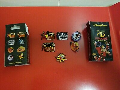 Disney 2019 The Incredibles Mystery Box 6 of 8 Pin Set Super Dad Violet+++