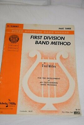 First Division Band Method Clarinet Book Belwin Mills Part Three