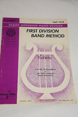 First Division Band Method Clarinet Book Belwin Mills Part Four