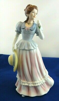 """Antique Royal Dresden Germany Meissen Porcelain Lady With Hat Figurine Statue 8"""""""