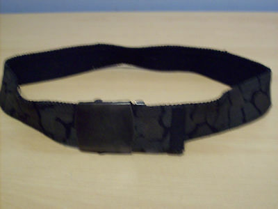 Belt Boys Fabric Snake Skin Effect Camouflage With Antique Metal Effect Clasp