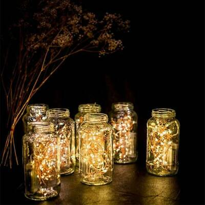 1M/2M Battery Operated Mini LED Copper Wire String Fairy Lights Hot