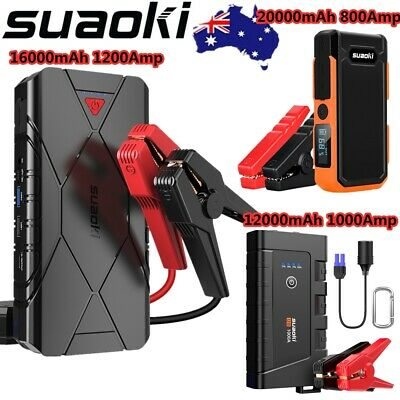 Suaoki 800Amp-1200Amp 12V Car Battery Jump Start Pack Booster Starter Power Bank