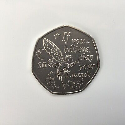 2019 Peter Pan 50p Tinkerbell Fairy New Release Official Isle Of Man Fifty Pence