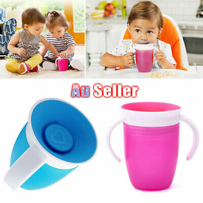 Non 360Trainer Proof Toddler Baby Miracle Cup Chew Training Sippy Spill