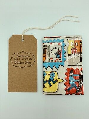 CATH KIDSTON 2020 Pocket diary HANDMADE in STOP THIEF OILCLOTH!!