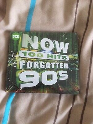 NOW 100 HITS FORGOTTEN 90's - 5 CD Set - SEALED (2019) FREE POST