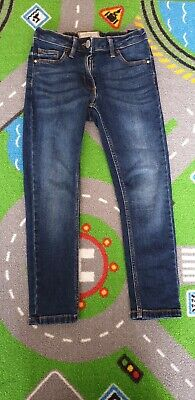 Girls NEXT Blue Denim Skinny Jeans Age 6-7 years