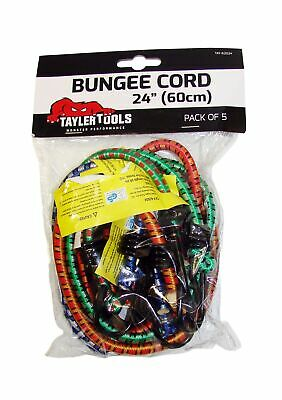 Taylor Tools TAY-62024 60cm/ 24-inch Heavy Duty Bungee Cord (Pack of 5) .