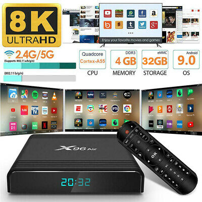 8K X96 Air Smart Android 9.0 TV Box 1000M LAN S905X3 4+32GB 2.4G/5G Media Player