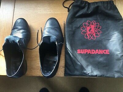 Supadance Men's Dance Shoes in Black Leather Size 8 Good condition