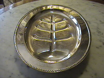 "Sheffield Silver CO. Silver Plate Oval Footed Meat Serving 16"" Tray Platter"