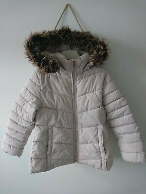 Zara girl winter detachable fur jacket 7 years VGC