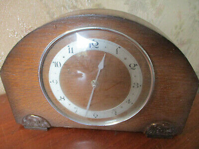 antique EDWARDIAN INLAID MAHOGANY MANTEL CLOCK/JOHN D FRANCISS LTD W//O