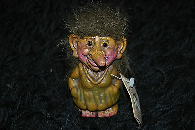 "Original Resin Tusse 6"" Troll - Norwegian Norsk Trollfabrikk - Old Crone Witch"