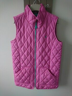 Joules girl quilted gilet body warmer 11-12 years great condition