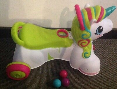 Infantino 3 In 1 Unicorn Ride On, Fully Working With 3 Balls