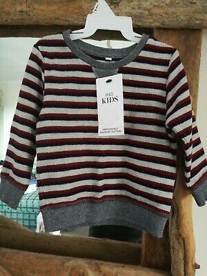 Baby Boys Long Sleeved Top M&S 6/9 Months Bnwt