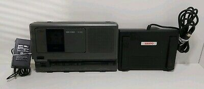 Sanyo TRC-8080 Memo-transcriber with foot control pedal TESTED