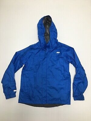 Koppen WindBreaker Hooded Rain Jacket Youth Medium Blue Boys Girls Kids