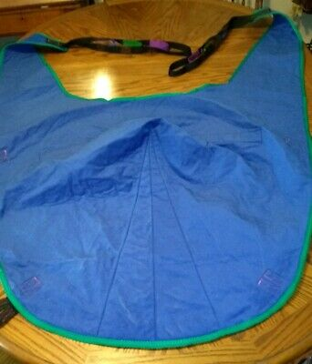 Invacare R101 Size Large Divided Leg Patient Lift Sling w/Head Support Excellent