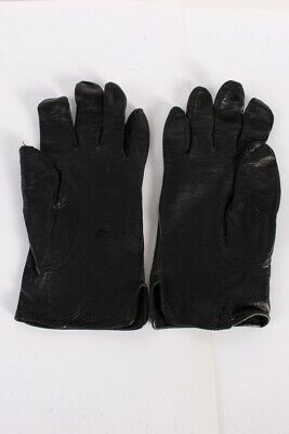 Vintage Leather Gloves  Warm Winter Designer Fleece Lined  Black - G81