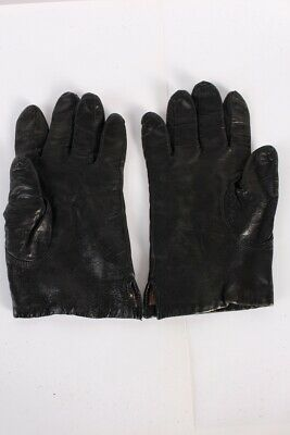 Vintage Leather Gloves  Fleece Lined Fashionable Womens UK  Black - G78