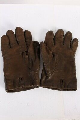 Vintage Leather Gloves  Mens Fashion Fleece Lined Size 8 Brown - G70