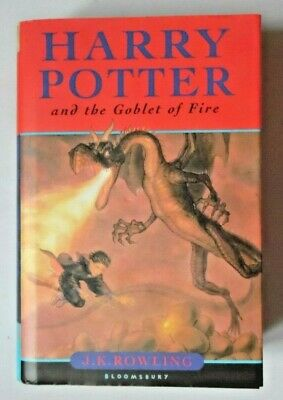 Harry Potter & The Goblet Of Fire By J K Rowling Hbdj 22Th Print Run Bloomsbury