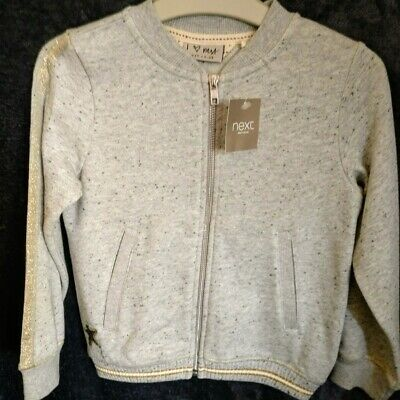Next girls gold star bomber jacket with sparkle NEW age 6 years NWT