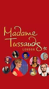2x Madame Tussaud's London Tickets Saturday 28 March 2020