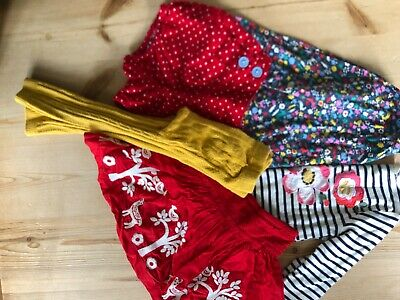 Mini Boden girls outfits, Christmas reindeer skirt, bloomers tops 2/3 years VGC