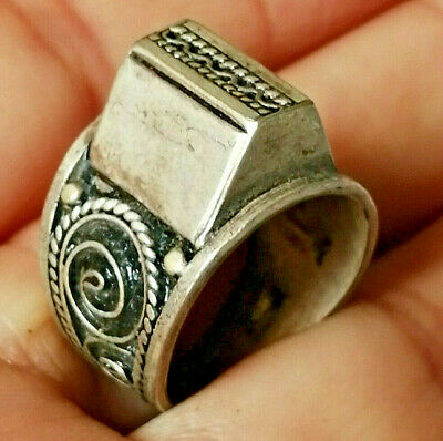 Extremely Ancient Medieval ROMAN Silver RING museum quality
