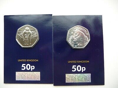 2019 Snowman And James And Gruffalo And Mouse 50p BUNC Coins In Certified Pack.