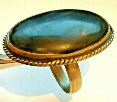 Extremely Ancient Medieval Vintage Silver RING AMAZING With Black Stone